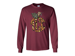 """Wild About Fall"" Monogram Tee"