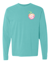Load image into Gallery viewer, Watercolor Apple Monogram | Stay Kind | Long Sleeve