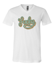 Load image into Gallery viewer, Retro Lucky | vneck tee