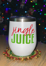 Load image into Gallery viewer, Jingle Juice Wine Tumbler