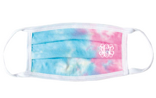 Load image into Gallery viewer, Pastel Tie Dye Face Mask | Monogrammed