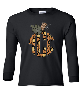 """Wild About Fall"" Monogram Youth Tee"