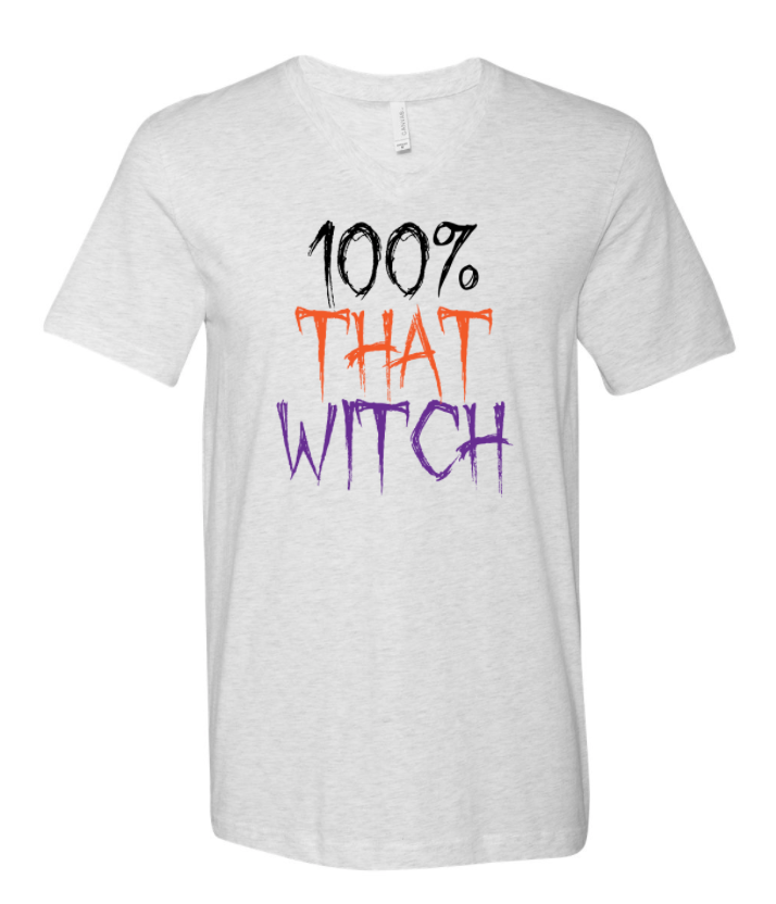 100% THAT WITCH v-neck Tee