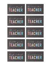 Load image into Gallery viewer, The TEACHER Tee | Softstyle