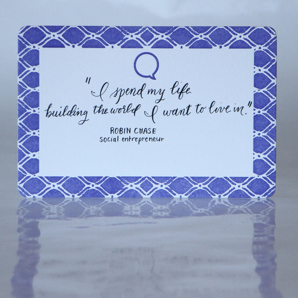 custom hand-lettered quote cards