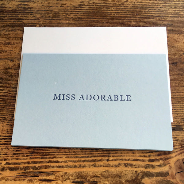 """John {Abigail's husband}"" letterpress notecard"