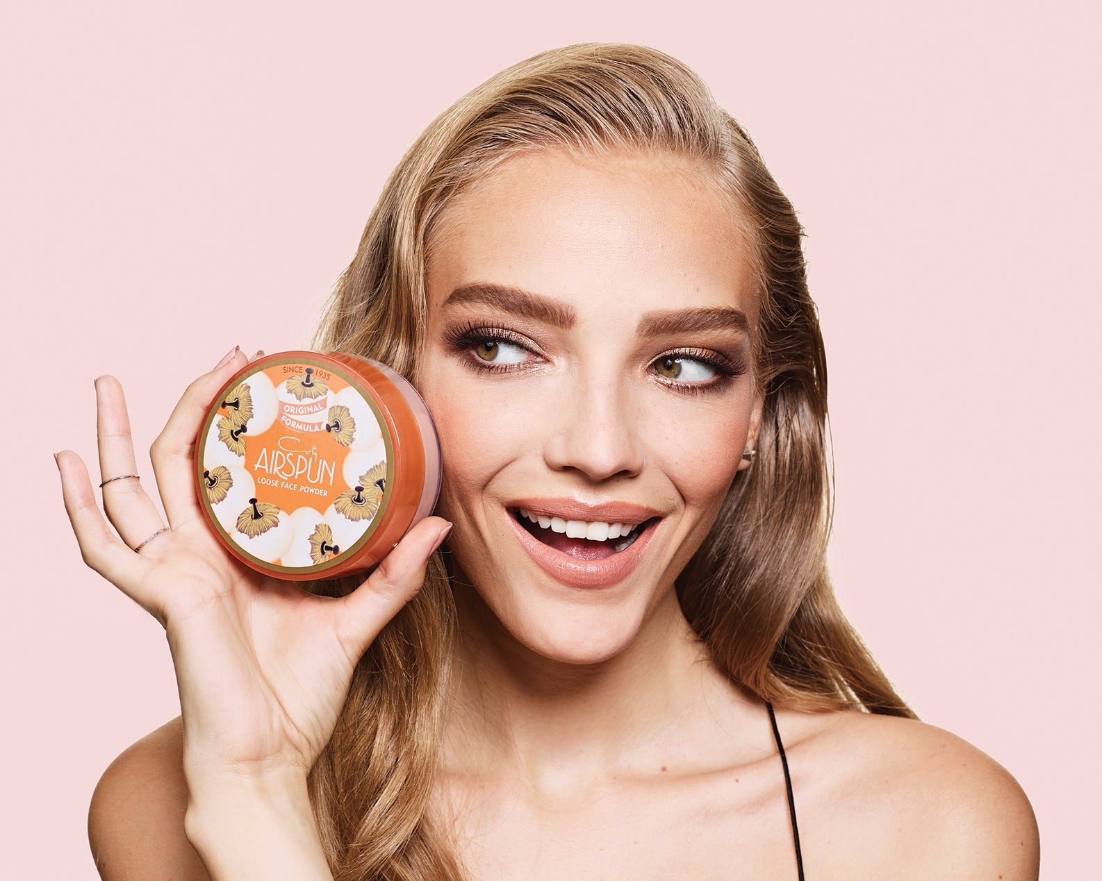 COTY - Loose Face Powder, 022 Rosey Beige, 2.3 oz