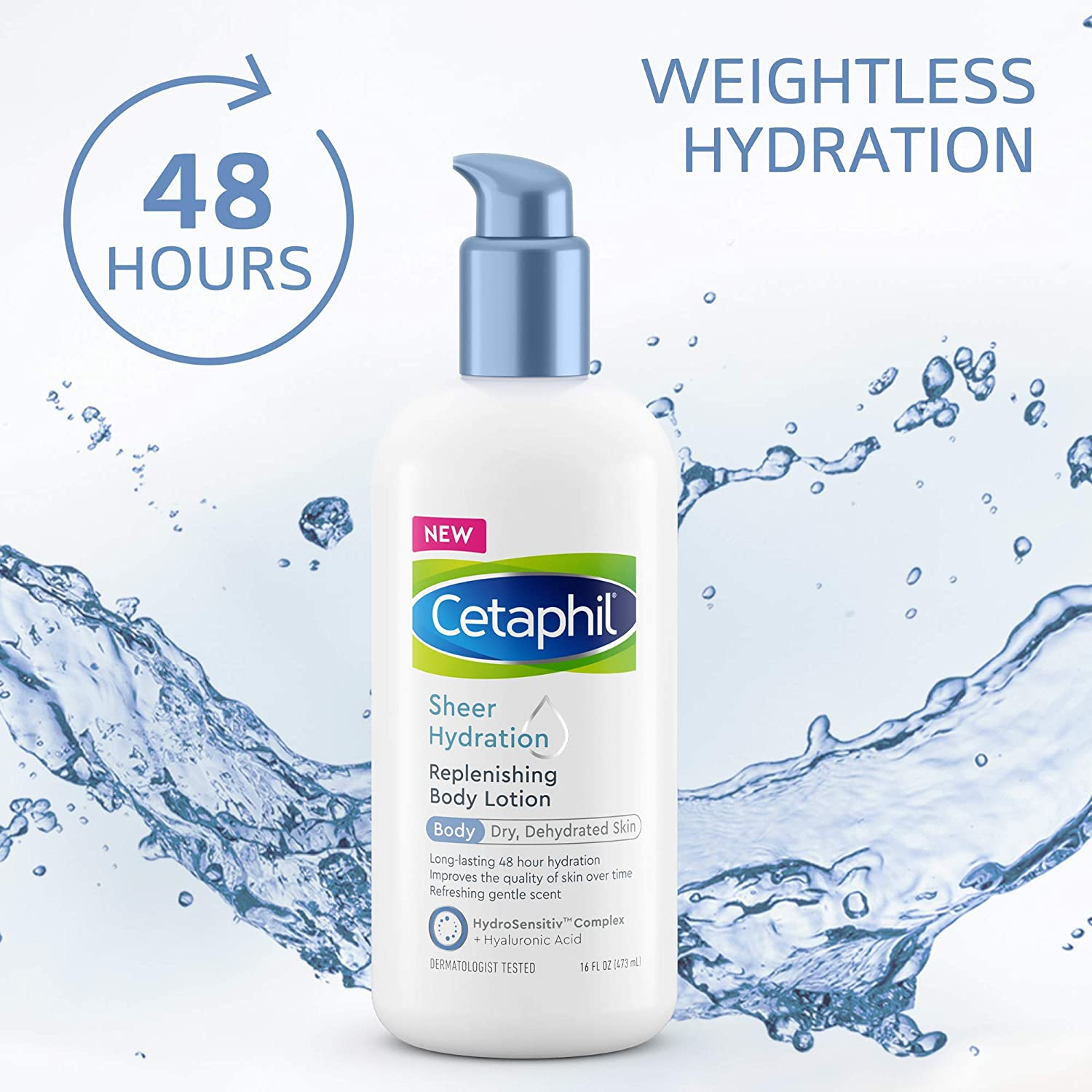 Sheer Hydration Replenishing Body Lotion for Dry Skin 16 fl oz.
