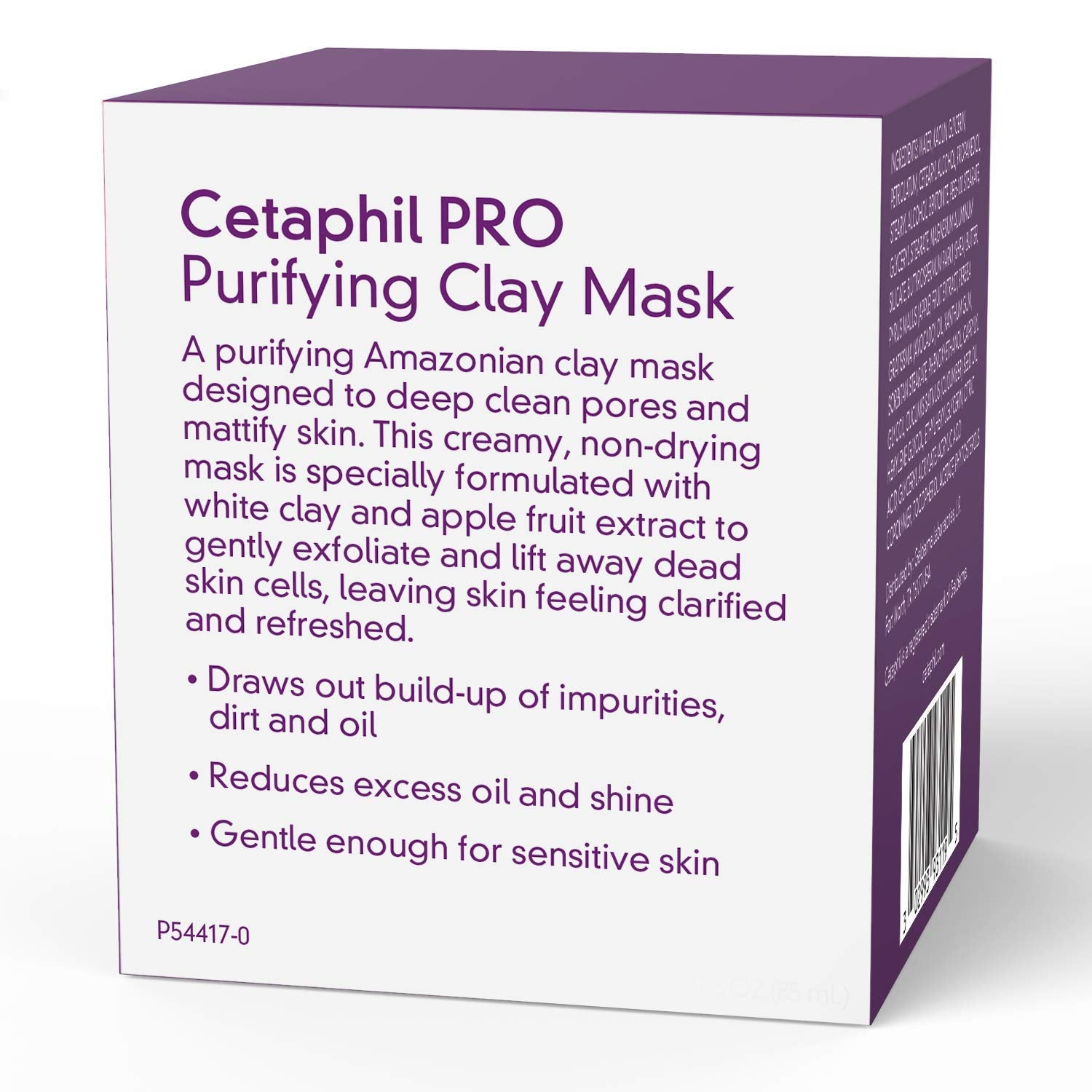 Pro Dermacontrol Purifying Clay Mask With bentonite Clay for Oily, Sensitive Skin, 3 Oz
