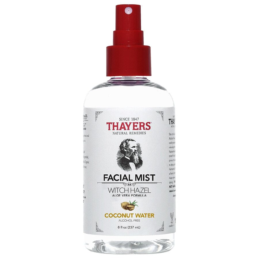 Thayers Alcohol-Free Coconut Water Witch Hazel Facial Mist Toner Coconut, Coconut