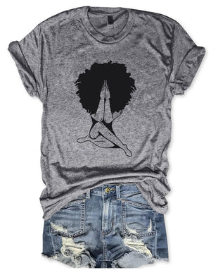 Afro Woman Praying Tee