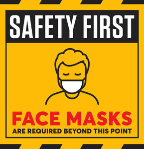 Social Distancing Sign - Face Mask