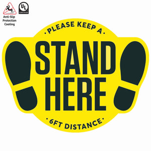 Social Distancing Sign - Stand Here Floor Decal