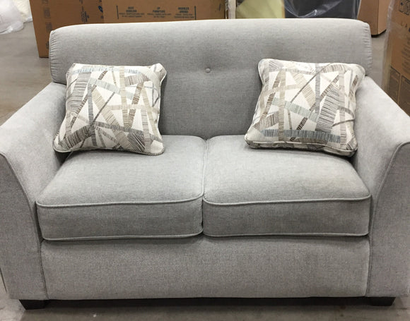 DIXIE FABRIC LOVESEAT - LIGHT GREY
