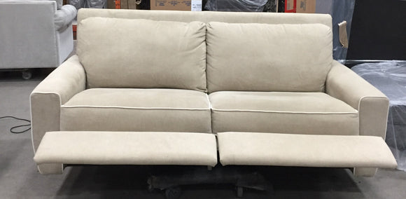 EDIE FABRIC POWER RECLINING SOFA - CREAM