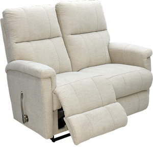 ETHAN FABRIC RECLINING LOVESEAT - CLOUD (WHITE/GREY)