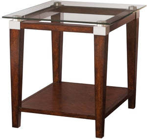 HAMMARY SOLITAIRE SQUARE TABLE END