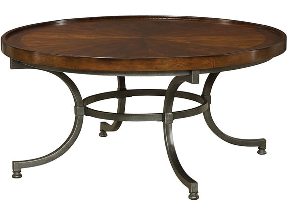 HAMMARY ROUND BARROW COFFEE TABLE