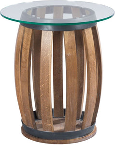 HAMMARY WINE BARREL ACCENT TABLE