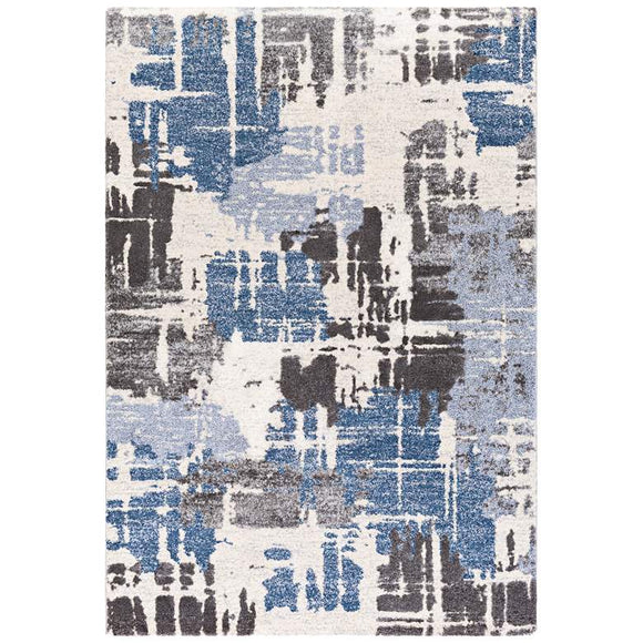 SURYA 9 x 12 CIELO AREA CARPET - NAVY/ CHARCOAL/ WHITE