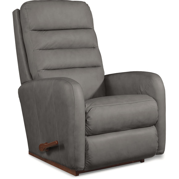 FORUM LEATHER ROCKER RECLINER - GREY