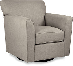 ALLEGRA FABRIC SWIVEL OCCASIONAL CHAIR - MULTI BEIGE