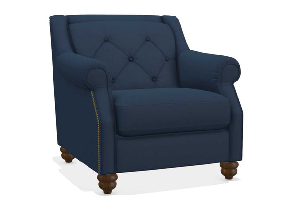 ABERDEEN FABRIC STATIONARY CHAIR - BLUE