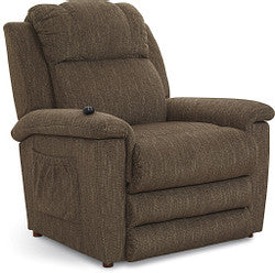CLAYTON FABRIC POWER 6 MOTOR MASSAGE AND HEAT LIFT CHAIR - BROWN