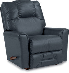 EASTON LEATHER ROCKER RECLINER - NAVY