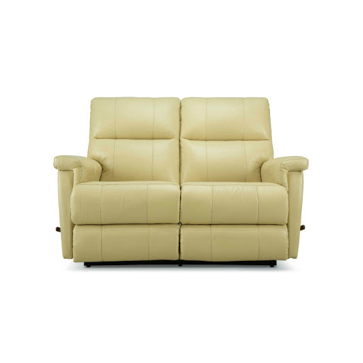 ETHAN Reclining Loveseat -  Cream Leather