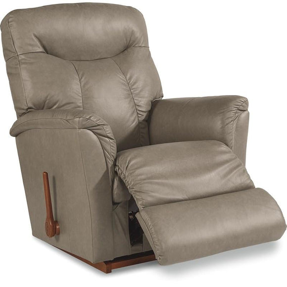 FORTUNE Leather Rocker Recliner - Grey