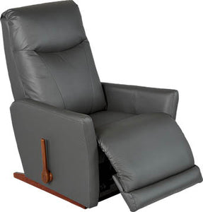 HARMONY Leather Rocker Recliner - Grey