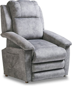 CLAYTON FABRIC LIFT CHAIR W/ MESSAGE AND HEAT - GREY