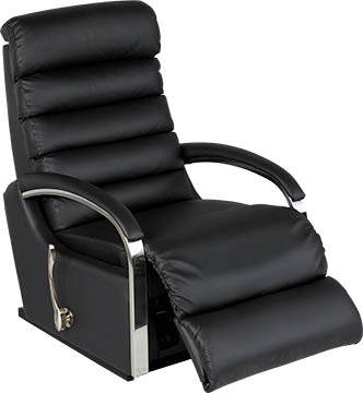 NORMAN Rocker Recliner - Black Leather