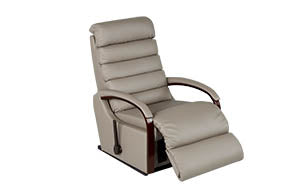 NORMAN Rocker Recliner - Mushroom colored Leather