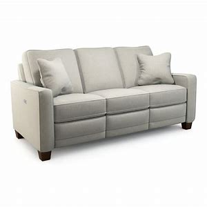 MAKENNA FABRIC POWER RECLINING SOFA - LIGHT GREY