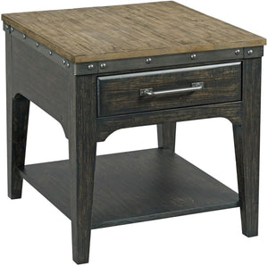 KINCAID PLANK ROAD END TABLE