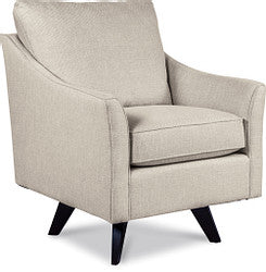 REEGAN FABRIC HIGH LEG SWIVEL OCCASIONAL CHAIR - CREAM