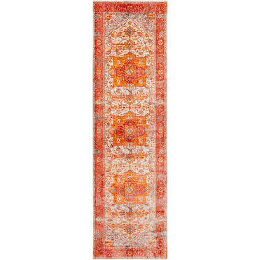 SURYA ORANGE/RED EPHESIANS RUG -2'7