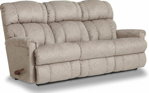 PINNACLE FABRIC RECLINING SOFA - LIGHT GREY
