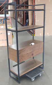 CANADEL SHELVING UNIT - WOOD/METAL