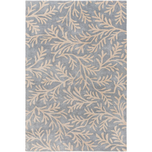 Surya 8'x11' Rug in Denim & Cream colour, BRL2008-811
