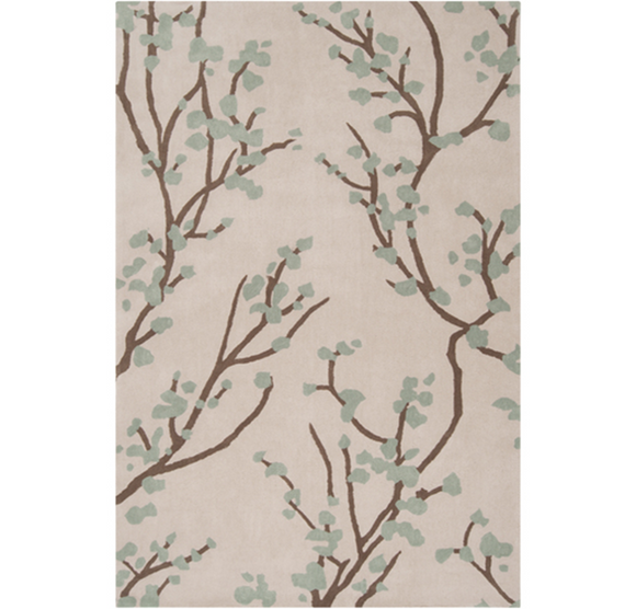 Surya Hudson Park 8x11 Rug, Light Grey & Tan Colour