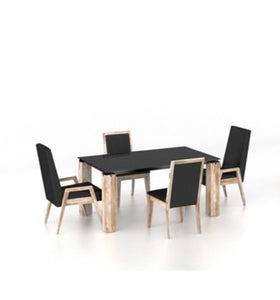 CANADEL EASTSIDE DINING SET - NATURAL / BLACK