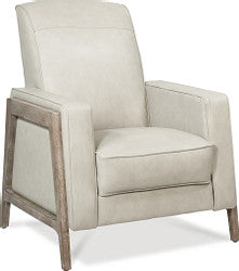ALBANY FABRIC PRESS BACK RECLINER - CREAM/RUST PATTERN
