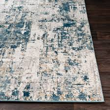 SURYA QUATRO AREA RUG - GREY/CREAM/NAVY/TAN