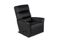 EMPIRE LEATHER ROCKER RECLINER - GREY