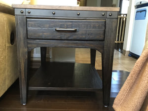 KINCAID PLANK ROAD END TABLE - WOOD