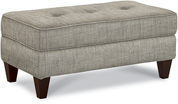 LAUREL FABRIC OTTOMAN - CHOCOLATE