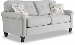 LAUREL FABRIC STATIONARY SOFA - CREAM